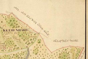 Kartenausschnitt von 1777