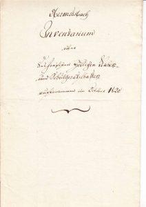 Kircheninventar Obermusbach 1820