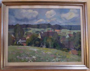 Haus Schneider von Eugen Kucher um 1930 gemalt