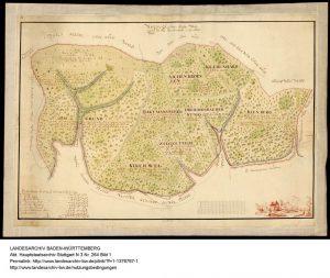 Karte von 1777