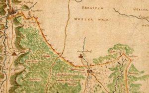 Freudenstädter Forstkarte 1712, Ausschnitt Obermusbacher Grenze
