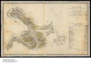 Forstkarte Igelsberger Hut (Forst) Geometer Koehle 1816
