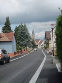 Ortsstraße Muespach le Haut
