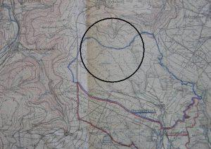 Ortsgrenze nach Igelsberg, Streckenverlauf eingekreist