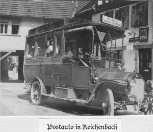 Postbus in Klosterreichenbach um 1908