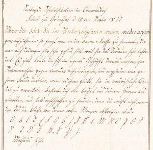 Schreibprobe Ziefle 1827