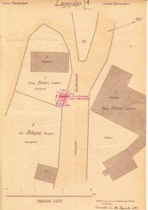 Lageplan des 1921 erbauten Pumpenhaus