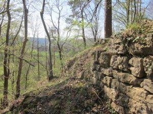Burg Siegburg Reste der Burgmauer im Innenhof