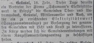 Sauggasmotoranlage 1910