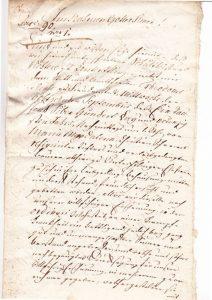 Erste Seite Testament Magdalena Hofer 1793