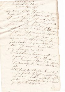 Erste Seite Testament Magdalena Hofer 1796