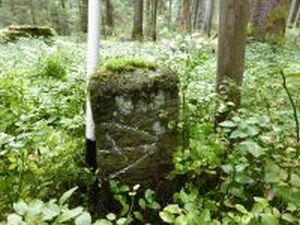 Grenzstein mit Hofmarke Mast Nr. 14