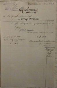 Rechnung Ehrenbürger Urkunderahmen 1910