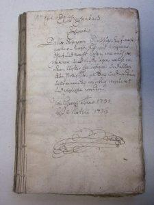 Deckblatt Einquartierung 1735