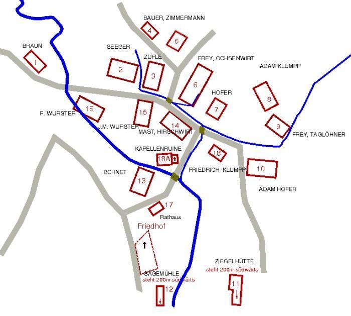 Lageplan von 1836