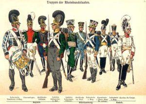 Soldaten-Uniformen im 18ten Jahrhundert